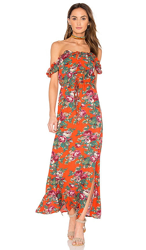 AUGUSTE Stevie Maxi Dress - Vintage Heart Red