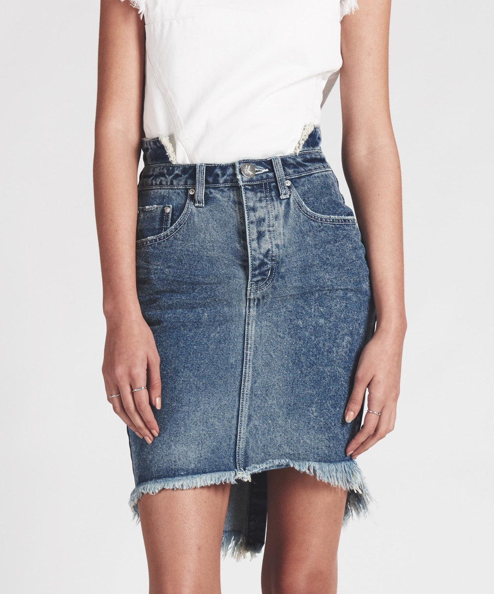 ONE TEASPOON Blue Society 2020 High Waist Denim Skirt
