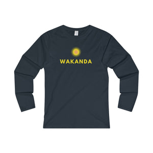 """WAKANDA"" Women's Fitted Long Sleeve Tee"