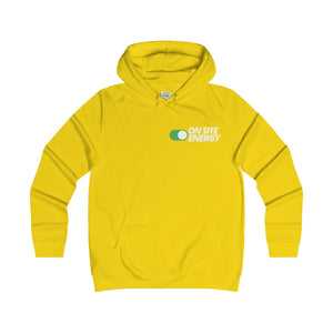 """ON SITE ENERGY"" Women's College Hoodie"