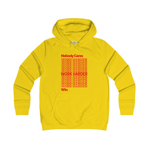 """WORK HARDER"" Women's College Hoodie"