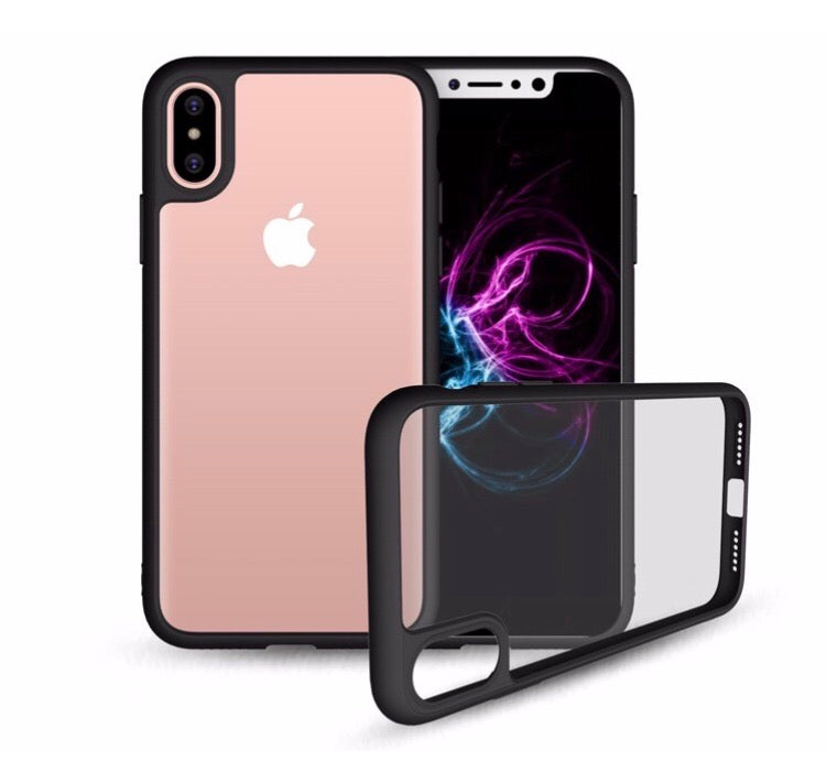 SFS iPhone X Clear Black Bumper Case