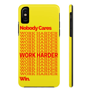 """WORK HARDER"" Case Mate Tough Phone Cases"