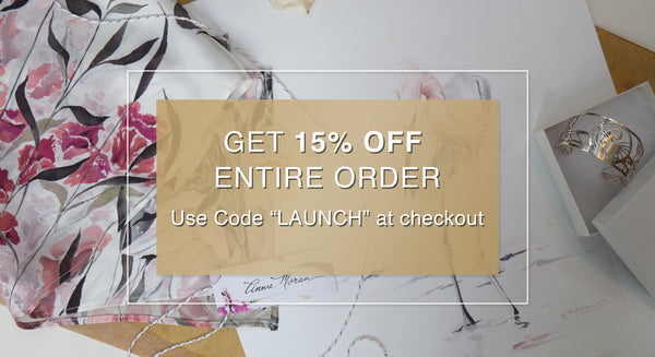 Site Launch Sale - Let's Celebrate With 15% Off!
