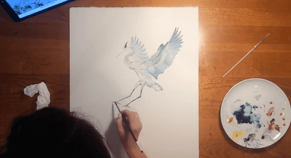 A Peek Over My Shoulder - Time-lapse Watercolor Painting