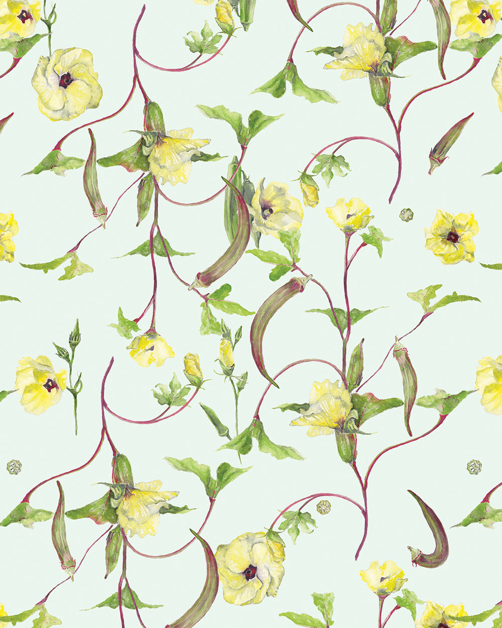 Okra Floral Wallpaper Wall Treatments Home Decor Annie Moran