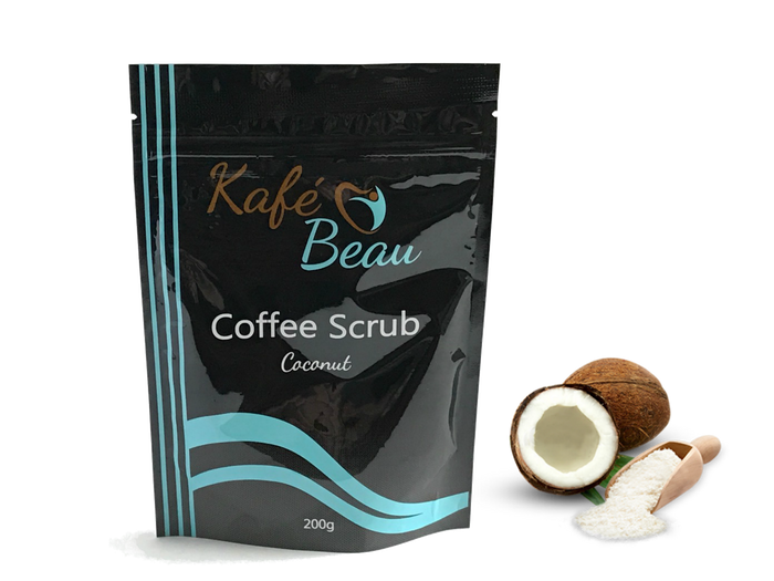 Coconut Kona Coffee Scrub with Dead Sea Salts