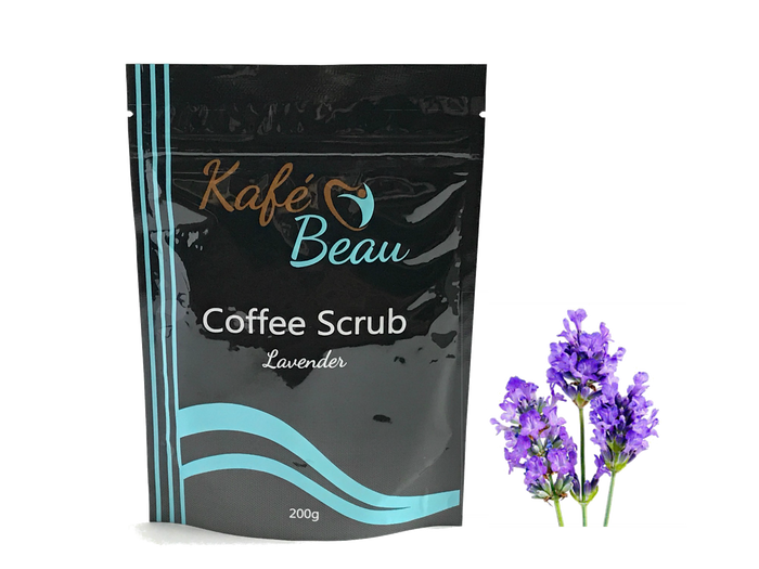 Lavender Kona Coffee Scrub with Dead Sea Salts