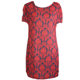 Pip Tunic Dress- Red Damask
