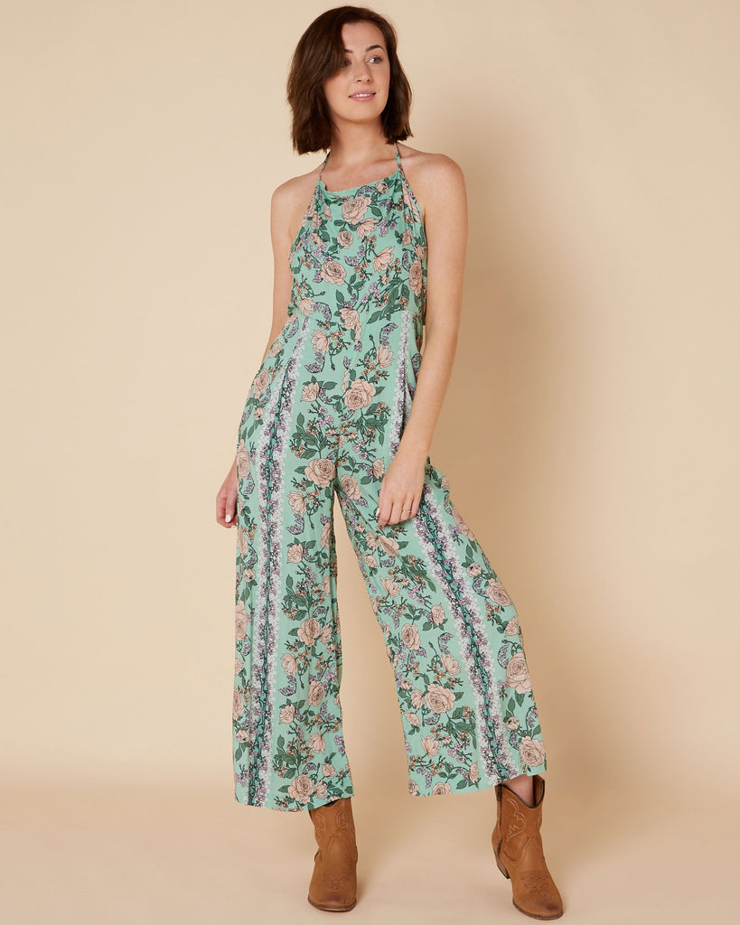 Jaase Venice Print Vacation Jumpsuit