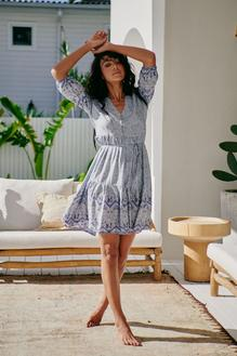 JAASE Riverside Print Finch Mini Dress
