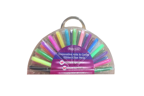 3D Glitter Glue Pens Set Of 30 Washable Non Toxic Craft Set