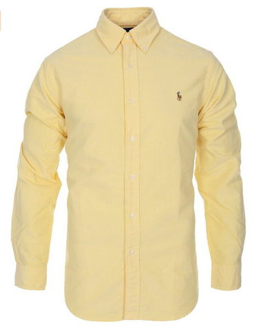 Ralph Lauren Mens Cotton Oxford Sport Shirt Standard Fit
