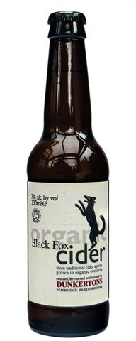 Dunkertons Black Fox Organic Cider 330ml