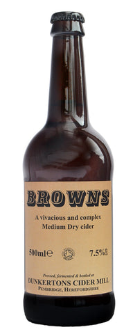 Dunkertons Browns Organic Cider 500ml