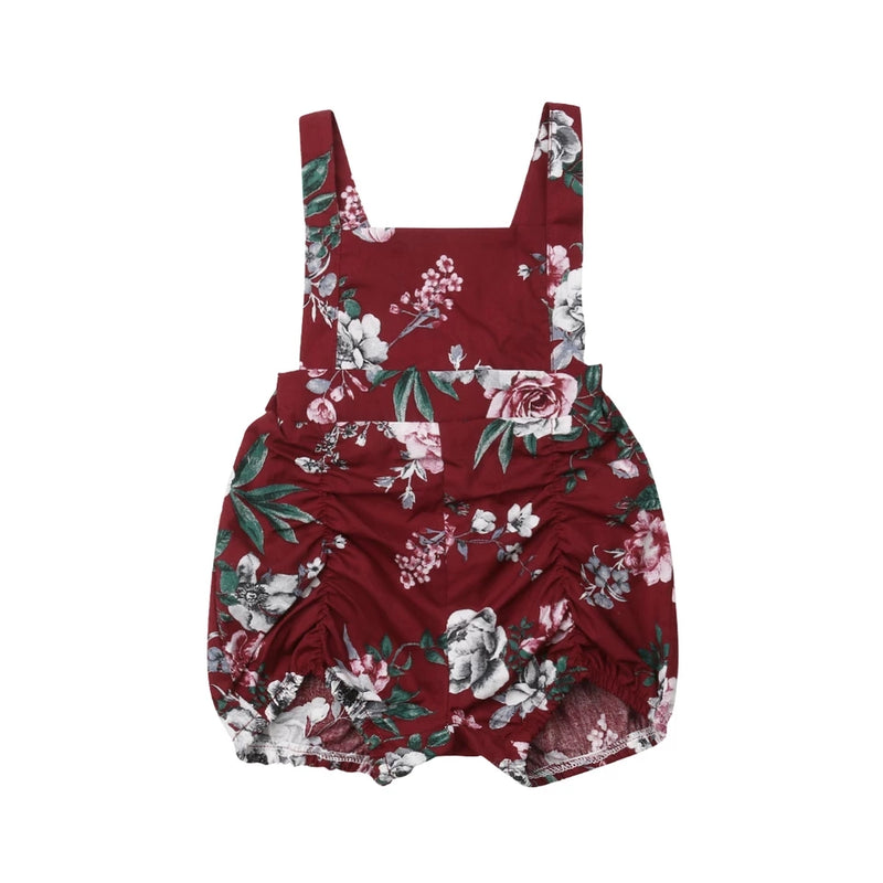 Francis Pucker Romper - Red