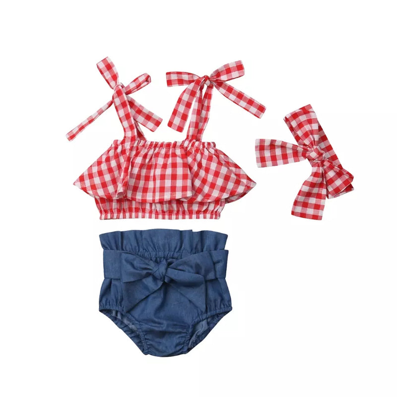 Kyra Plaid Set ll