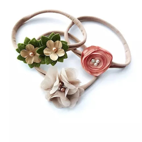 Flower Headbands (3 pack)