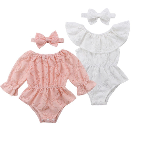Trixie 2pc Lace Rompers