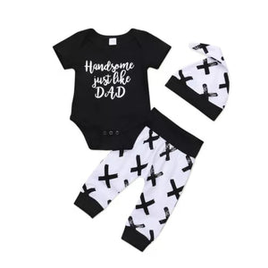 Handsome Just Like Dad 3pc Set