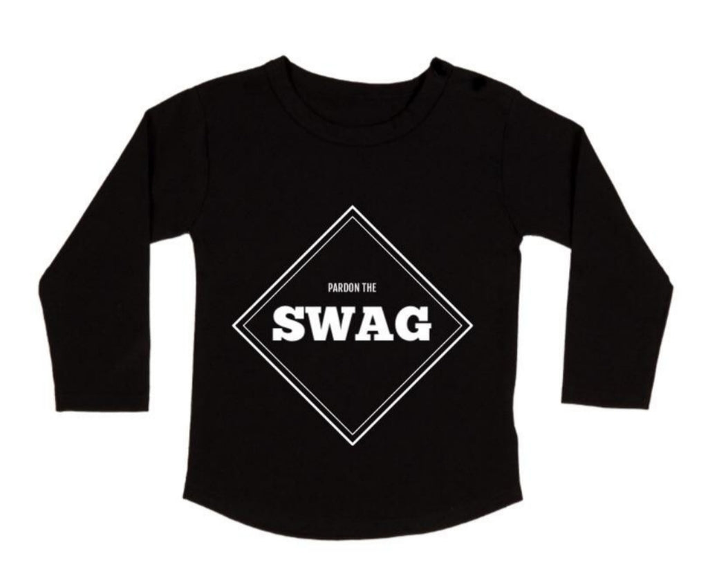 MLW By Design - Pardon The Swag Long Sleeve Tee
