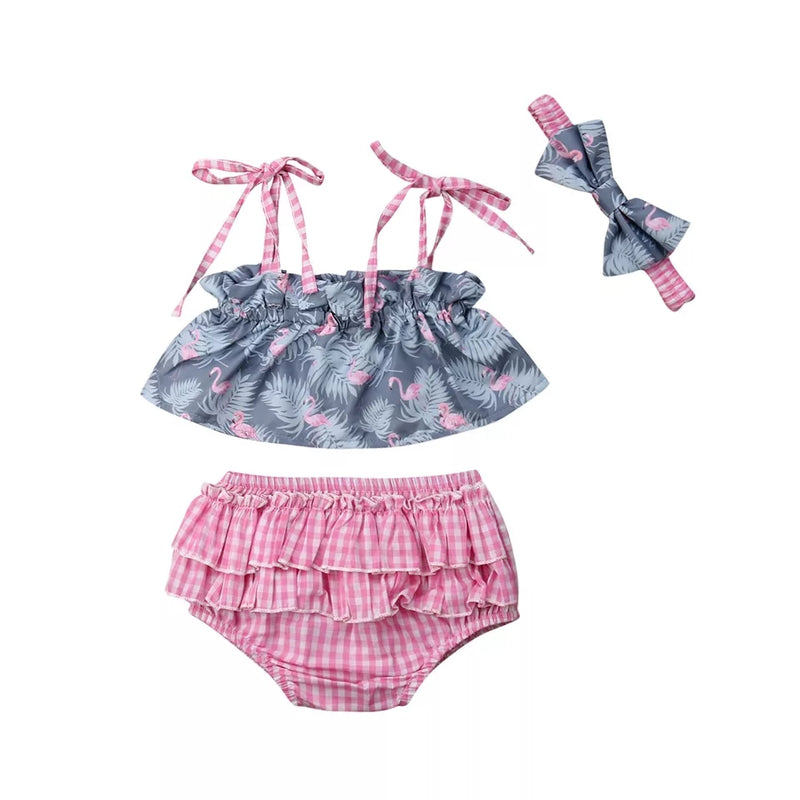 Fabienne Flamingo 3pc Set