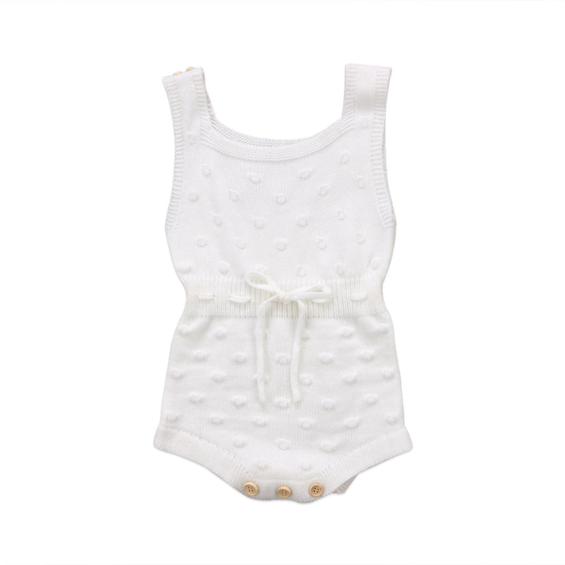 Lucy Knitted Romper (2 colours) (3-6m & 6-12m)