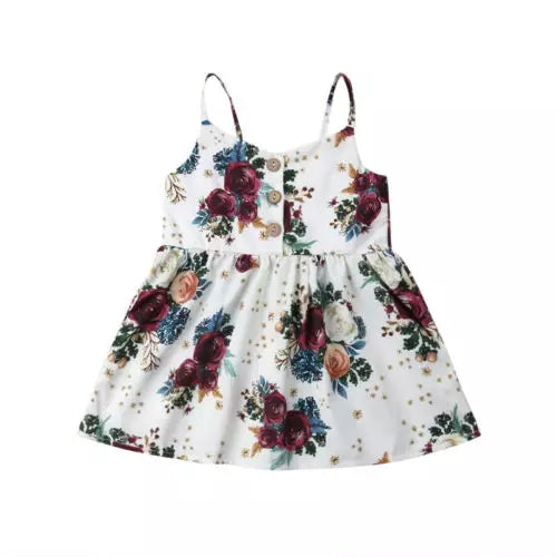 Cora Dress - Red Floral