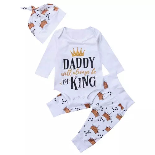 Daddy Will Always Be My King 3pc Set
