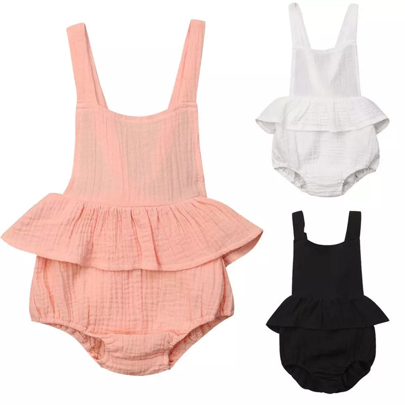 Crushed Cotton Rompers