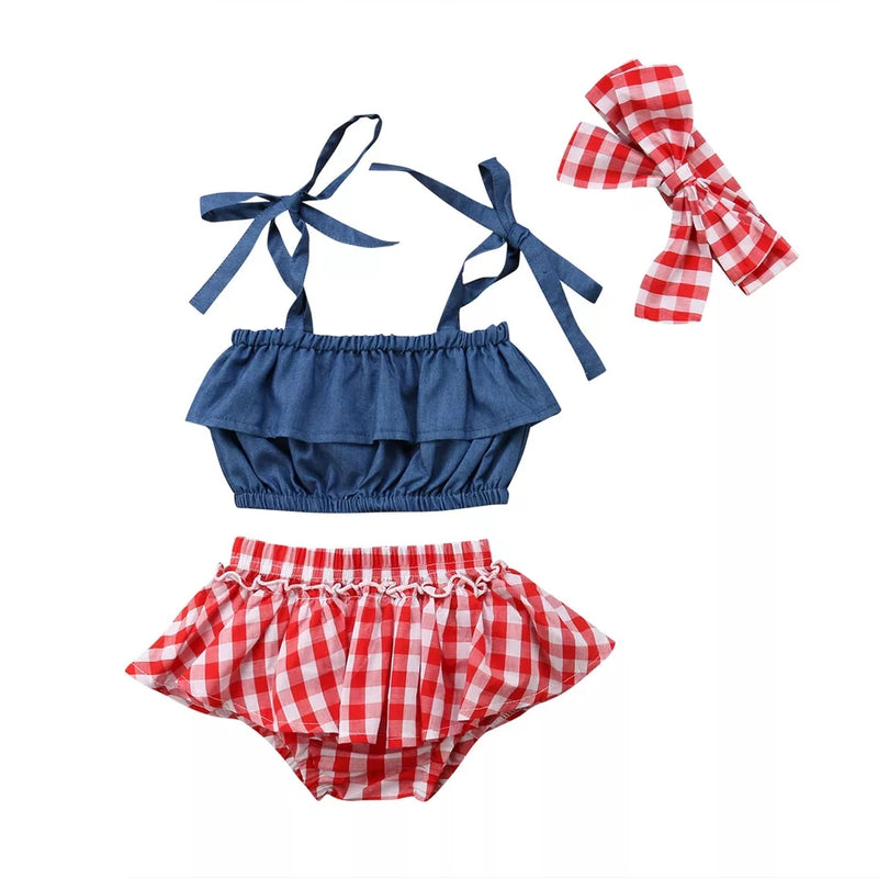 Kyra Plaid Set