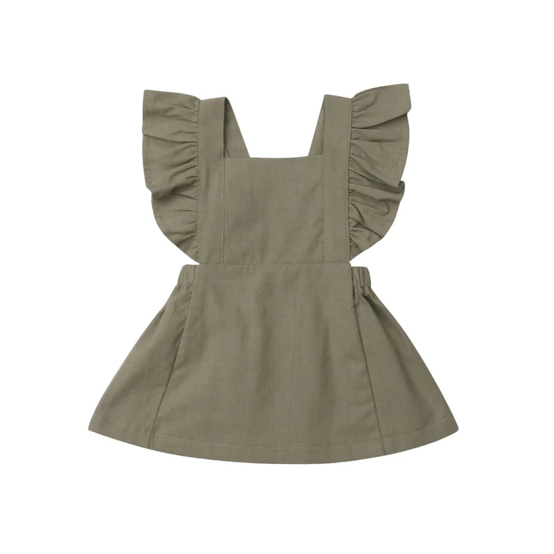 Poppy Dress - Khaki Green