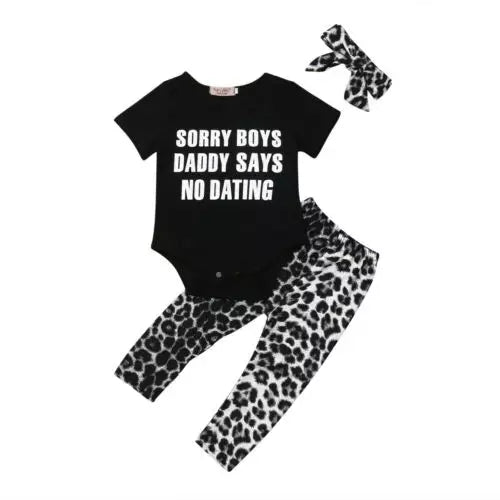 Sorry Boys Daddy Says No Dating 3pc Set
