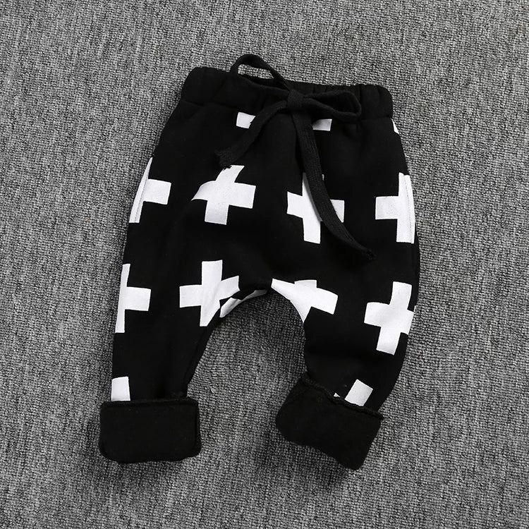 Cross Fleece Harems (size 18-24m)