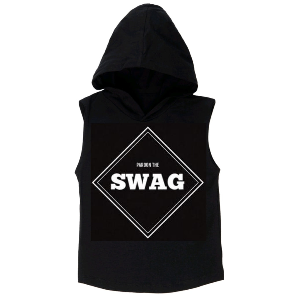 Pardon The Swag Sleeveless Hoodie - MLW By Design