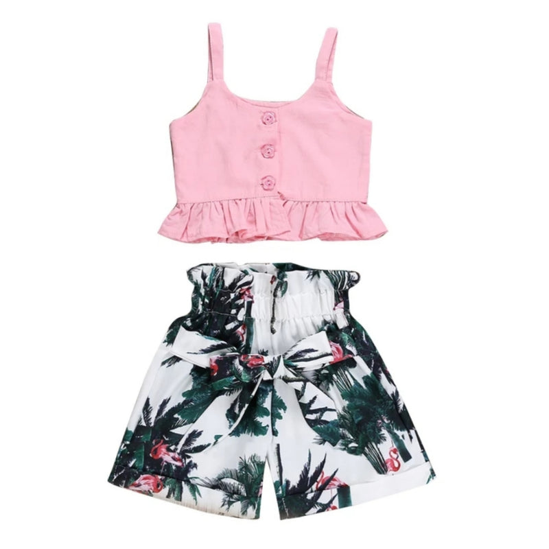 Palm Flamingo Set