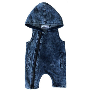 Acid Wash Street Romper - MLW By Design