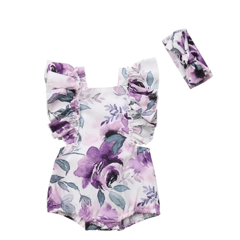 Iris Romper - Purple