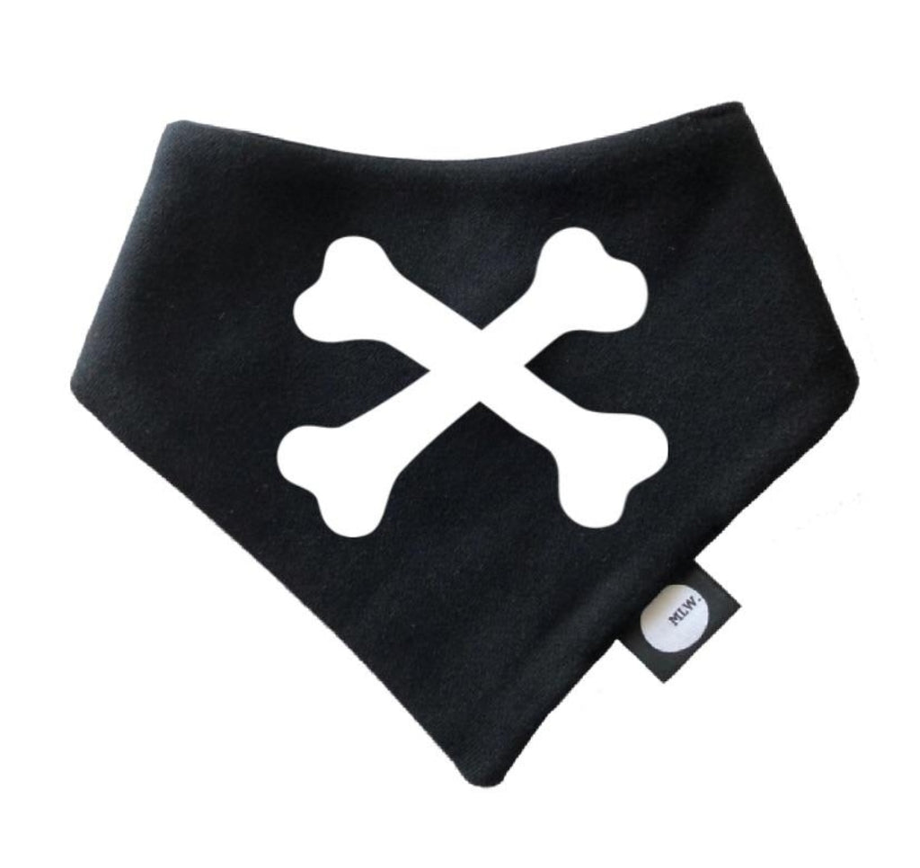 Cross Bones Bandana Bib - MLW By Design
