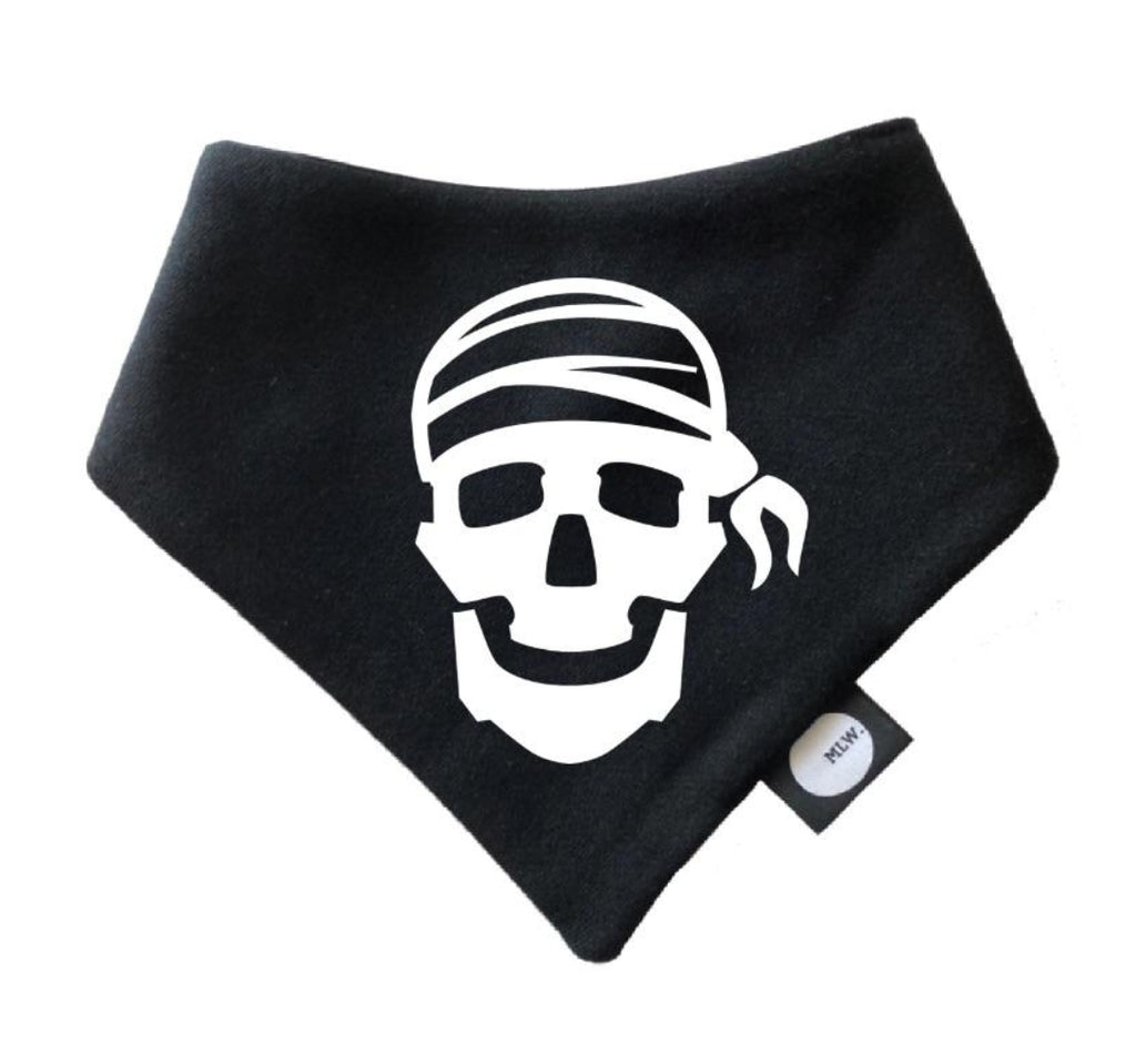 Pirate Skull Bandana Bib - MLW By Design