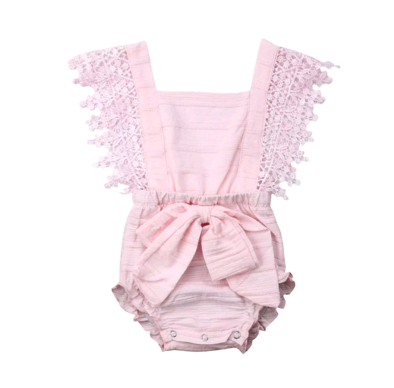 Maddy Romper - Baby Pink