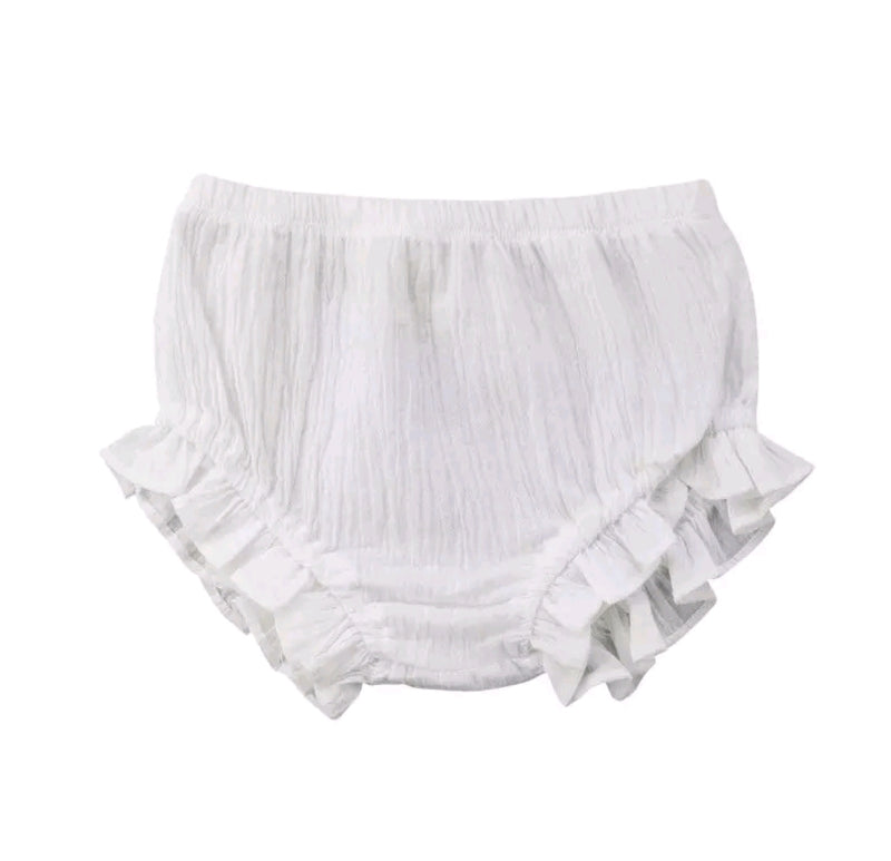 Crushed Bloomers - White