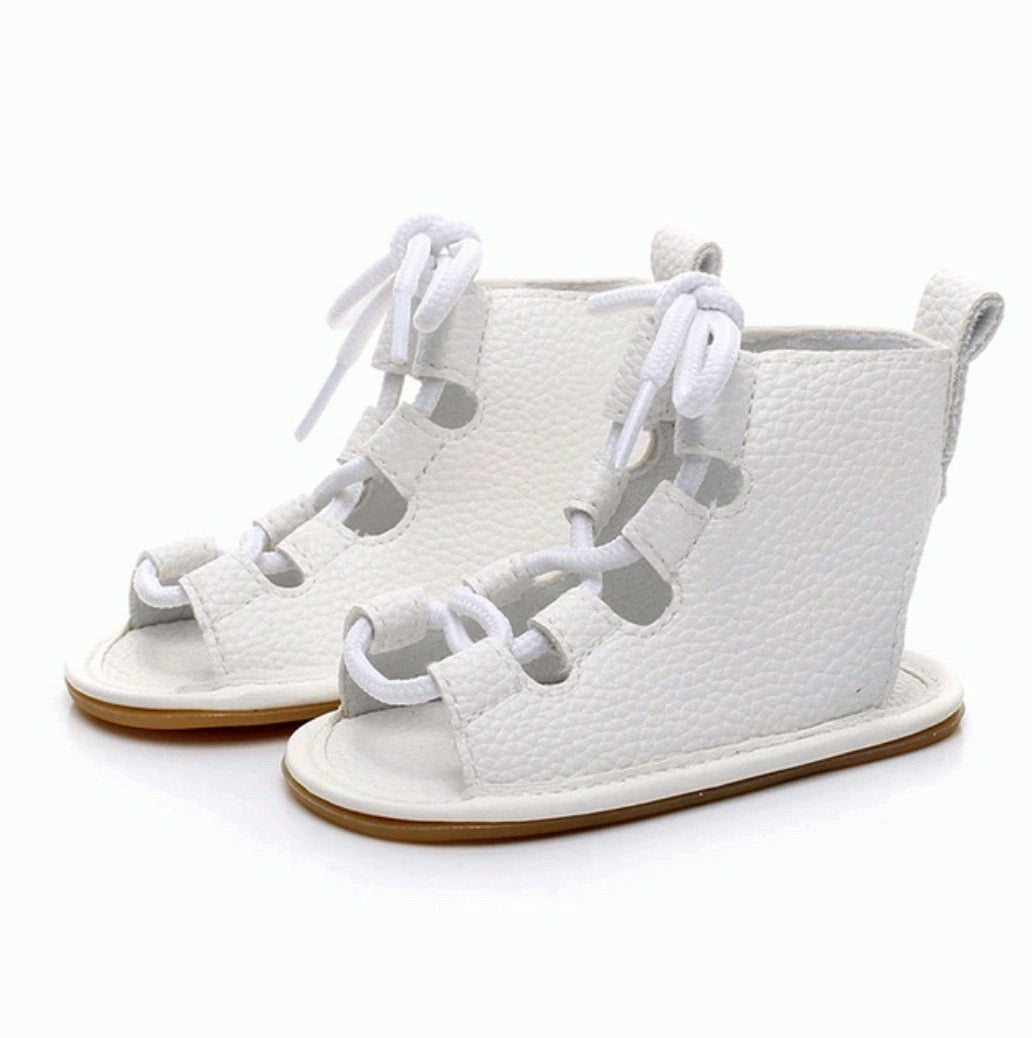 Tie Up Sandals - White