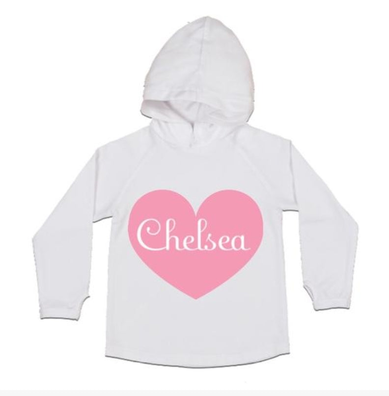 MLW By Design- Personalised Heart Jersey Style Hoodie - (White or Black)