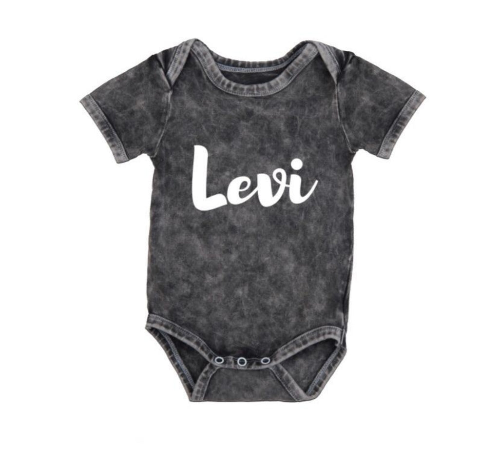 MLW By Design - Personalised Name Stonewash Bodysuit