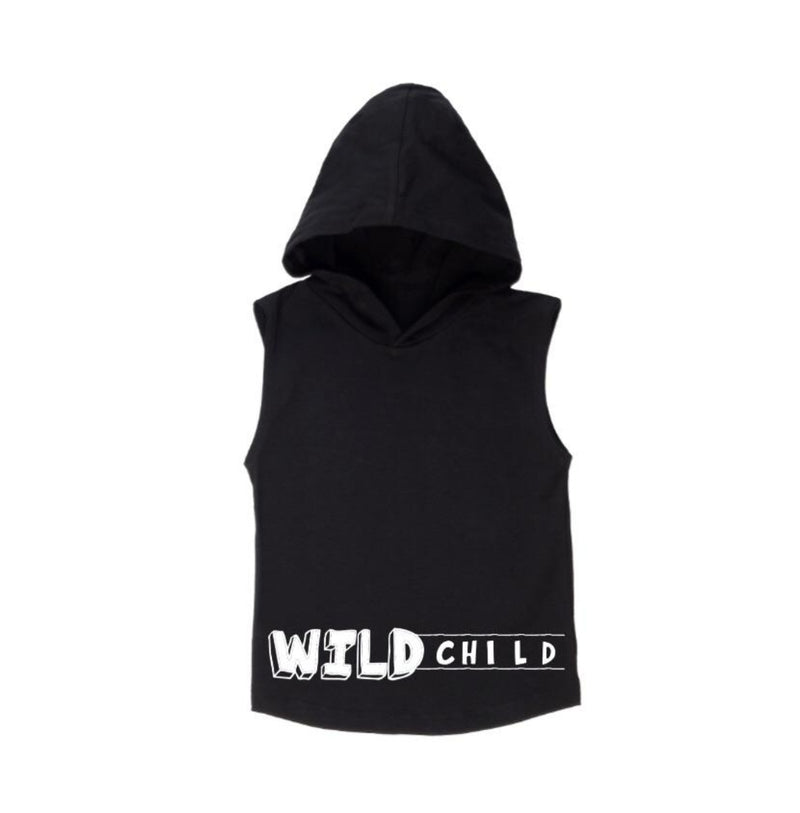 Wild Child Sleeveless Hoodie - MLW By Design