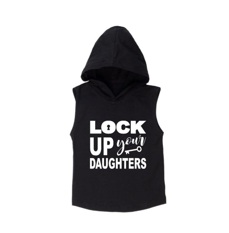 Lock Up Your Daughters Sleeveless Hoodie - MLW By Design