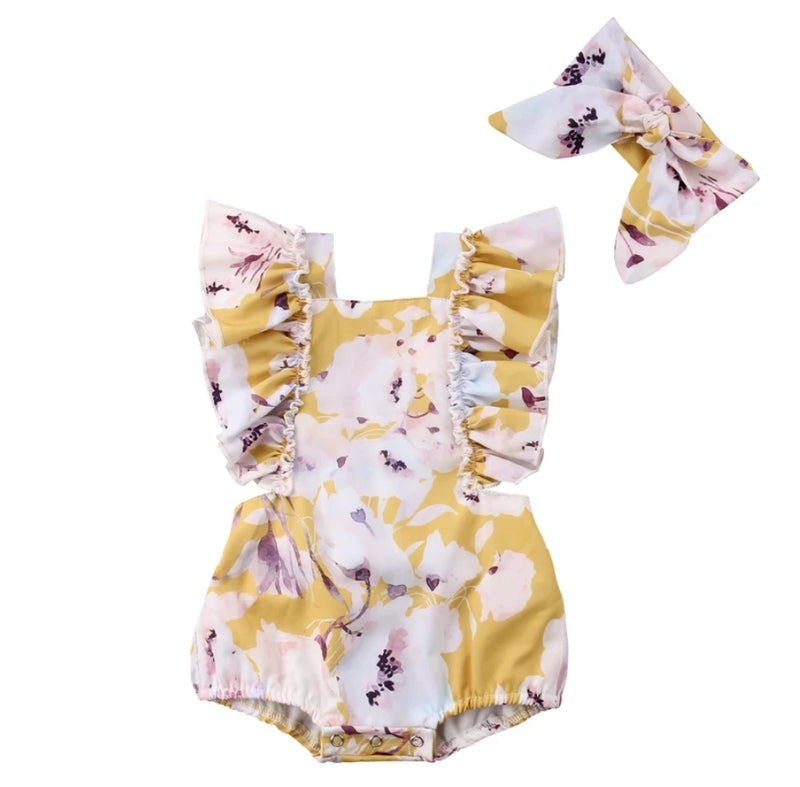Iris Romper - Yellow