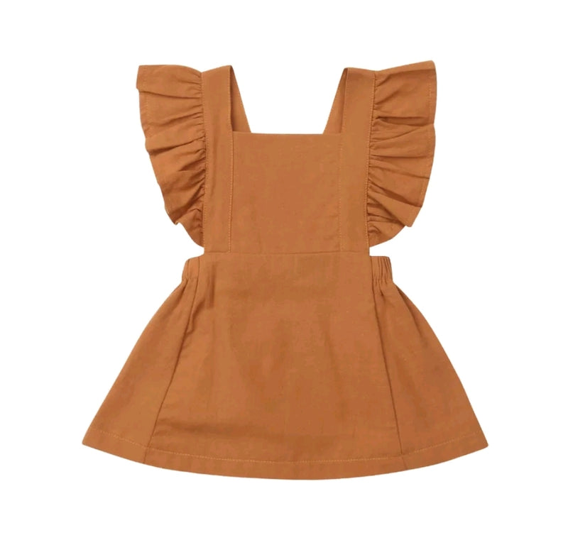 Poppy Dress - Dark Orange