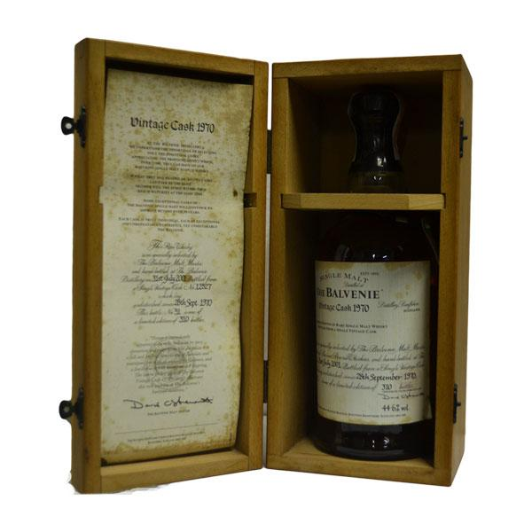 Balvenie Vintage 1970 Single Cask (bottled 2001, cask no:12527)